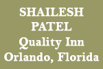 Shailesh Patel, Quality Inn, Orlando, Florida