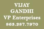 Vijay Gandhi, VP Enterprises, 863.287.7970